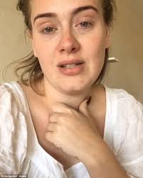 video message make up adele uploaded a video on wednesday in which she broke