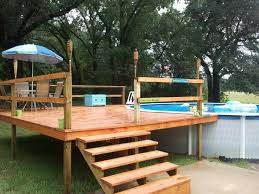 Image 20 Ft Simple Deck Ideas For Above Ground Pool Don Pedro All You Need To Know About Above Ground Pool with Pictures