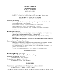 Warehouse Worker Resume Examples Of Resumes Certified Medical