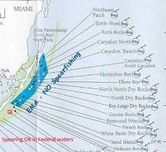 Key Largo Chart Upper Keys Reefs And Shipwrecks Florida Go Fishing