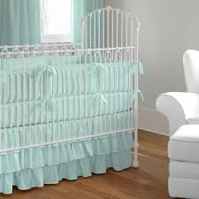 solid seafoam aqua crib bedding