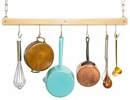 jackcubedesign ceiling wood pot rack hanging pan organizer hanger kitchen bar 6
