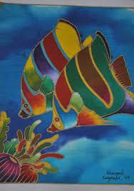 Batik Fish Design Fish Batik Design Textiles Design Decor