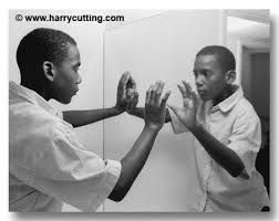 black child looking in mirror. african american boy looking in mirror - minority children f214-22 photo, image, picture black child i