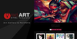 art portfolio template red art html portfolio art gallery website template by buddhathemes