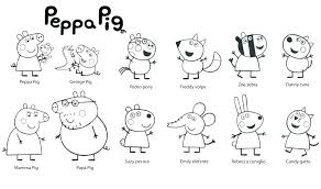 Coloring Pages Peppa Pig New Images Peppa Pig Coloring Pages