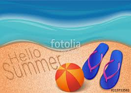 Beach ball in sand Summer Summer Background With The Sea Beach Ball Flip Flops And The Inscription On Featurepicscom Summer Background With The Sea Beach Ball Flip Flops And The
