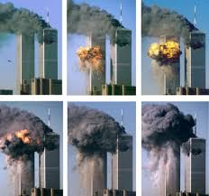 「al-Qaeda terrorists crash two planes into the twin towers of the World Trade Center」の画像検索結果