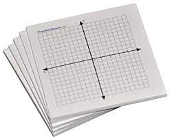 Sticky Note Mini Graph Pads 10 Count Graph Paper Sticky Notes 20 X 20 Four Quadrant