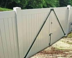vinyl fence driveway gates astonishing j gallery installation home design