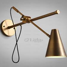 swing arm wall sconce lights hardwired