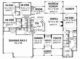 house plans 4 bedroom 3 bath one story fresh 5 bedroom 3 1 2 bath floor
