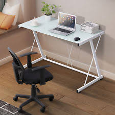 table desks office. Computer Desk White Office Home PC Laptop Glass Work Table Workstation  Furniture Table Desks Office