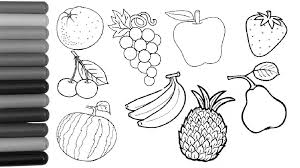 Different Fruits Coloring Pages Children For Kids Free Printable