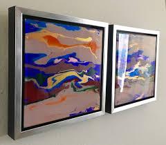 abstract art original painting on plexiglass handmade contemporary art framed one of a kind