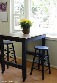 before after make your own diy eat in kitchen table in a navy