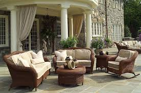 outdoor patio wicker chairs. furniture : traditional patio wicker design feature sofa with arched arm and foamy cream colored sheets include cushions floral pattern outdoor chairs