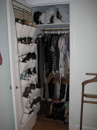 fitting a 21st century sized big wardrobe into a small 1948 closet like this one