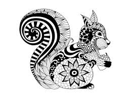Small Picture Free coloring page coloring zentangle squirrel by bimdeedee
