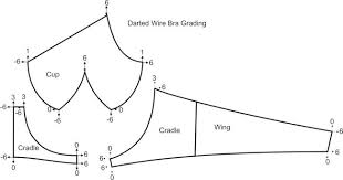 Bra Grading Charts Darted Bra Grading Dress Making Lingerie Patterns
