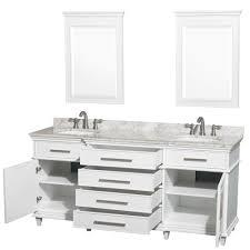 bathroom color berkeley white finish double sink vanity marble top inch bat 70 inch bathroom vanity