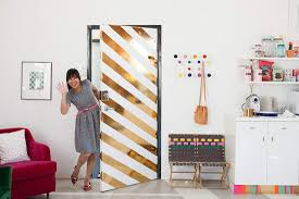 Stick contact paper on your door to create an entirely new experience.