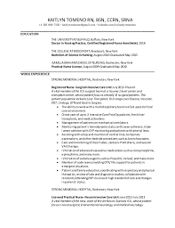Nurse Anesthetist Resume Adorable Kaitlyn Tomeno Resume