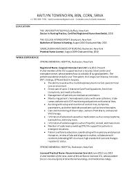 nurse anesthetist resumes kaitlyn tomeno resume