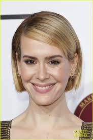 sarah paulson darby stanchfield get dolled up for make up artist hair stylist guild awards 2016