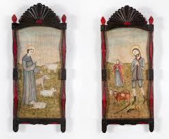 Lot - Bernadette Pino De Goler, Two Altar Panels, 1999