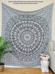 Amazon.com: Most Wanted Black And White Tapestry Elephant Mandala Hippie  Tapestry Indian Traditional