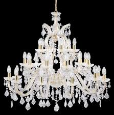 marie therese brass 30 light chandelier with crystal drops 1214 30