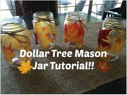 Decorating With Mason Jars For Fall DOLLAR TREE FALL MASON JAR DIY YouTube 2