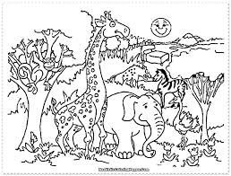 Safari Animals Coloring Pages Mosshippohaven