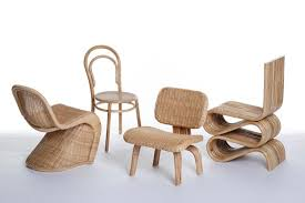 furniture made of bamboo. Made In China: Émilie Voirin Reinterprets Iconic Chairs Biodegradable Bamboo And Rattan | Inhabitat - Green Design, Innovation, Architecture, Furniture Of