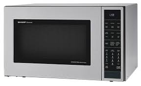 sharp convection microwave. stainless steel carousel convection microwave (smc1585bs) \u2013 left angle sharp
