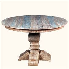 mesmerizing distressed round dining table for your dining room decor awesome rustic reclaimed wood pedestal