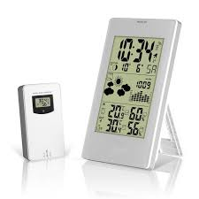 fj3352 weather station with barometer forecast temperature humidity wireless outdoor sensor alarm and snooze digital clock
