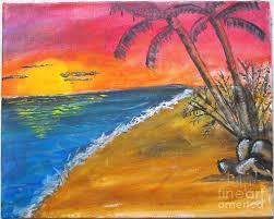 beach painting beach scene by catherine ratliff