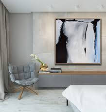 original large abstract art painting on canvas black grey blue square wall art org10 on blue gray and white wall art with modern art home decor