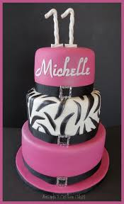 February Birthday Cakes Amandas Custom Cakes Girly 11th Birthday Cake
