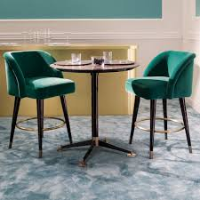 high end designer bar table and chairs set