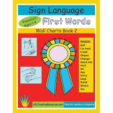 Preschool Wall Charts Wall Chart Book 02 First Words In Sign Preschool