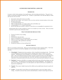 Resume Guidelines Skills Summary For Guidelines For Writing Resume Popular Resume 30
