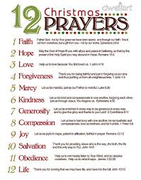 Great reminder for the real reason for the season - 12 Prayers for Christmas