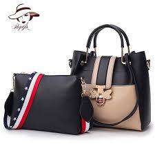 Famous Brand <b>2PCS Set Women Composite</b> Messenger <b>Bag</b> Bee ...