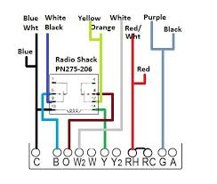 4 wire thermostat wiring diagram honeywell thermostat wiring color code at 4 Wire Thermostat Wiring Color Code
