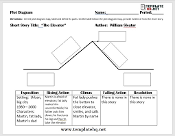 Parts Of A Plot Diagram 15 Free Plot Diagram Templates And The Important Elements