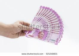 indian hand fan clipart. spread of new indian currency notes in hand fan clipart