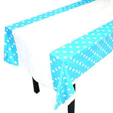 high quality polka dots party plastic tablecloth cover for kids birthday home teal roll black and white chevron plastic tablecloth